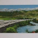 Vintage Postcard California Zephyr Train By River