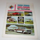 Auto Brochure Ford 1966 Ford Cars & Trucks for recreation