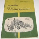 John Deere Manual DL2 RL2 2-row DL4 RL4  4-row RL6 6-row Listed Crop Cultivators