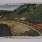 Vintage Postcard Great Northern Railways Streamlined Empire Builder Montana