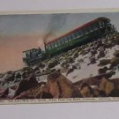 "Vintage Postcard ""Last Hill"" Steam Locomotive Pushing Car Pikes Peak Co"