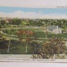 Vintage Postcard First Log Cabin in Lincoln County Park North Platte Nebraska