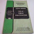 OE Original John Deere CC-A Field Cultivator Operator's Manual OEM # OM-M46-1257