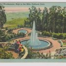 Vintage Postcard Woodminster Illuminated Fountains Oakland Ca