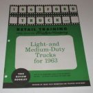1963 Ford Truck Retail Training Review Booklet Light-Med Duty Trucks for 1963