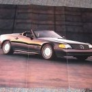 1989 Mercedes SL Large Fold Out Poster Advertisement