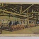 Vintage Postcard Lake Lodge Lobby Yellowstone Park Indoor Scene