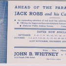 Vintage Jack Ross & His California Cadets Blotter Ad Playing in Omaha Ne