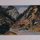 Vintage Postcard California Zephyr Train Through The Mountains