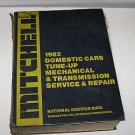 Mitchell 1982 Domestic Cars Tune-Up Mechanical & Trans. Service & Repair Manual