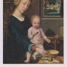 """Vintage Postcard Gérard David : La Vierge à la soupe au lait """"Madonna spoon"""""""