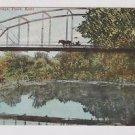 Vintage Postcard South Bridge Paolo Kansas Horse Drawn Carriage on Bridge