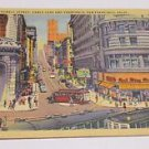 Vintage Postcard Cable Cars & Turntable Powell Street San Francisco CA