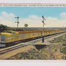 VTG Postcard Union Pacific Streamline Train Rockies to Mississippi