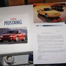 1994 FORD MUSTANG DEALER PRODUCT &  MARKETING GUIDE