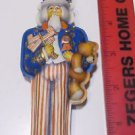 Hallmark Keepsake Ornament 1984 Uncle Sam - Pressed Tin