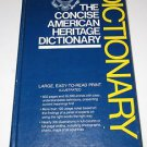 "The Concise American Heritage Dictionary Houghton Miffin ""easy to read print"""