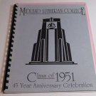 Midland Lutheran College Class of 1951 Directory 45 year Anniversary