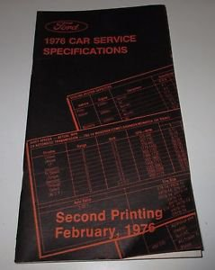FORD 1976 Car Service Specifications