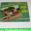 From Spring to Fall with JANE and ANDY by Anderson 1939 Rand McNally HC