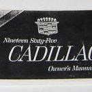 "Cadillac 1965 Owners Manual Facsimile ""REPRINT"""