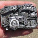 "~""AMerican Farmer Feeds The World"" ~ Belt Buckle Tractor/Windmill Farm Scene ~"