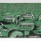 """General Motors """"GM"""" Chevrolet Station Wagon Owners Guide ~ Manual ~ 1968"""