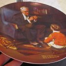 "Norman Rockwell Collector Plate ""The Tycoon"" Knowles"