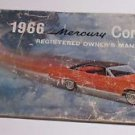 """1966 Mercury """"COMET"""" ~ Registered Owners Manual ~Ford~"""