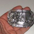 Sedgwick County Fair Cheney KS 1987 Engraved Belt Buckle No 93 limited edition