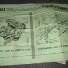 """1961 FORD THUNDERBIRD Cutaway View """"Huge Wall Poster"""" of Power Steering Assembly"""
