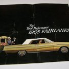 """1965 Fairlanes Ford Brochure """"The Total Performance"""""""