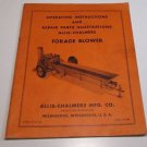 Allis-Chalmers Operating Instructions & Repair Parts Illustrations Forage Blower