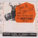 "Blotter Hartford Insurance 1957 Deer Stag ""Monarch Of The Glen"""