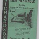Farm Messenger Catalog Richardson MFG Co Cawker City Kansas 1950