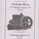 Fairbanks Morse Z 3HP Style C Instructions 2737A
