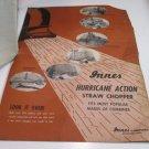 Instructions for Innes floating pick up & sales brochure for Innes Hurricane straw chopper