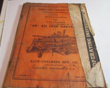 1940s 1950s ALLIS-CHALMERS ALLIS CHALMERS 60 ALL CROP HARVESTER