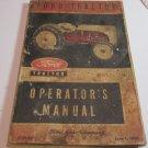 FORD Tractor Model 8N Operators Manual 1950