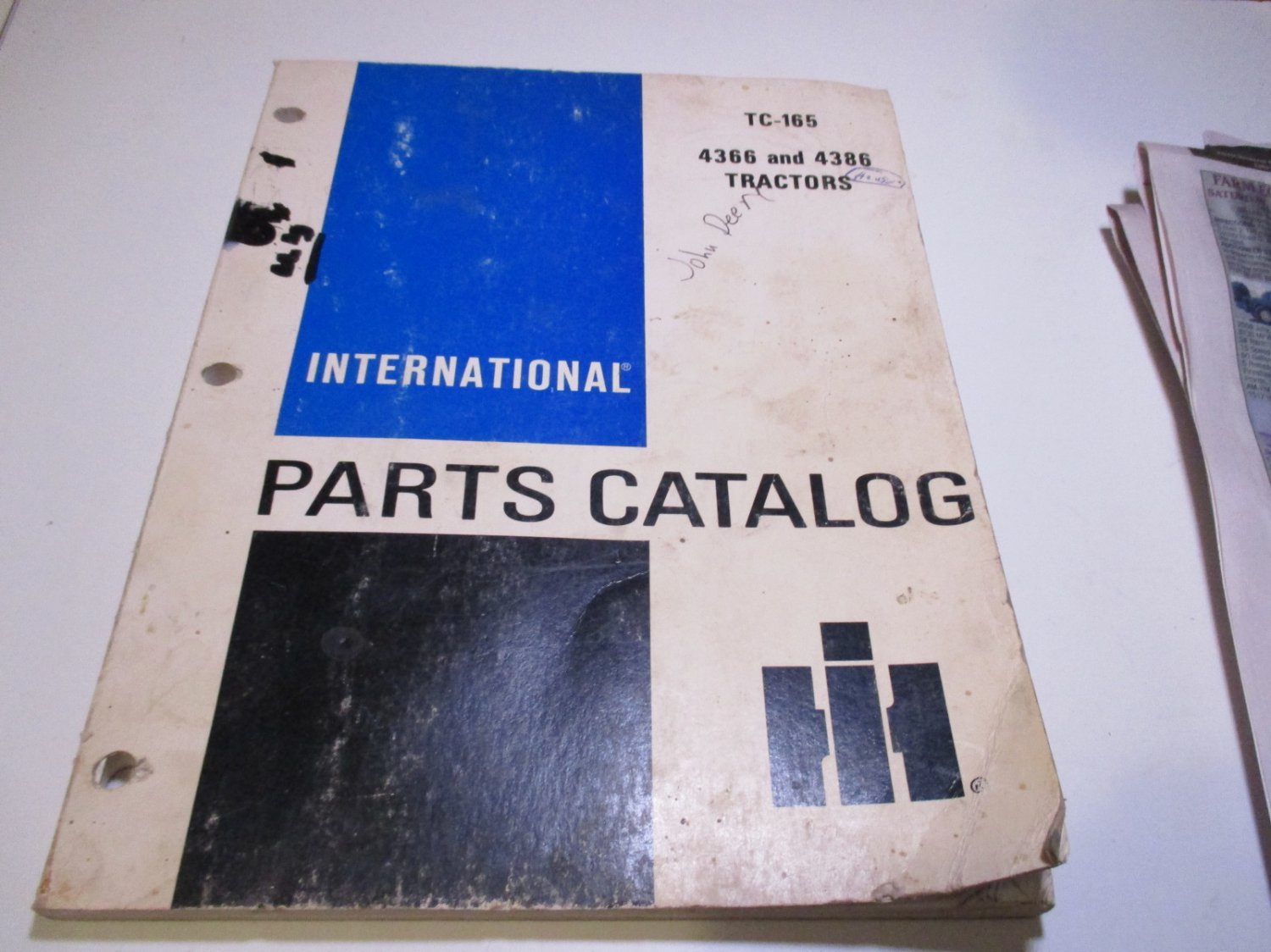 international parts catalog tc-165 4366 and 4386 tractors