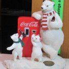 Coca Cola Heritage Collection Refreshing Treat Polar Bear and Cubs w/ Coke Vending