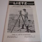 Vintage A. Lietz Company brochure catalog Instruments of Precision for Engineers and Surveyors