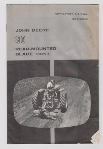 john deere 80 rear mounterd plow operators manual