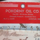Pokorny Oil Co Calendar 1959 Schuyler Nebraska Champlin Goodyear
