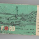 1964 FORD OWNERS INSTRUCTION & OPERATING MANUAL