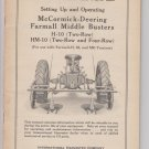 instruction manual setting up operating mccormick deering farmall middle busters h-10 hm-10