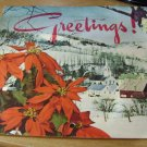 GREETINGS Zadina Florist Omaha Nebraska Telegraph Service 1957 Calendar