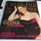 Capitol File Holiday 2005 Geena Davis exclusive