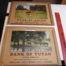 (2) Vintage Calendar Art Print Headers Bank Of Yutan Yutan Nebraska