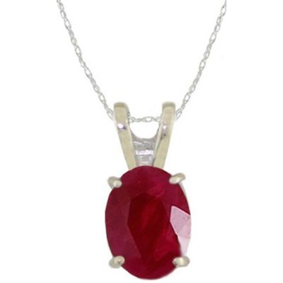 Ruby Pendant Silver Coated